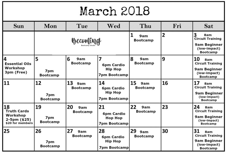 March becomingCalendar